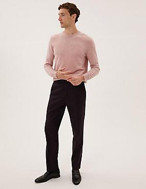 سروال صوف مقاس حسب الطلب بتصميم إيطالي