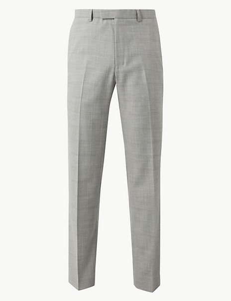 Checked Tailored Fit Trousers