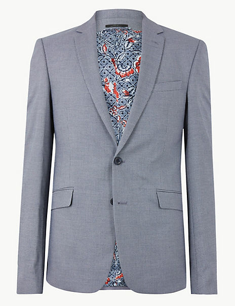 Blue Slim Fit Jacket