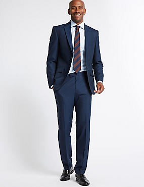Big & Tall Indigo Modern Slim Fit Suit