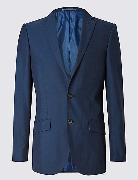 Big & Tall Indigo Modern Slim Fit Jacket