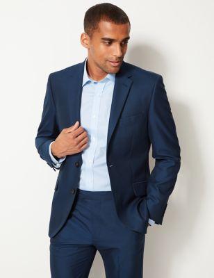 Big & Tall Indigo Tailored Fit Jacket