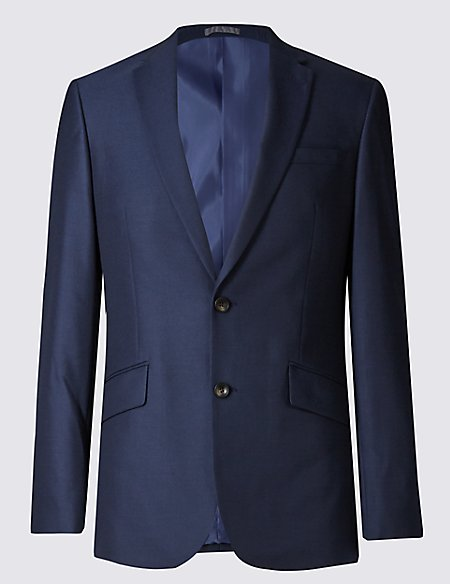 Big & Tall Indigo Tailored Fit Jacket