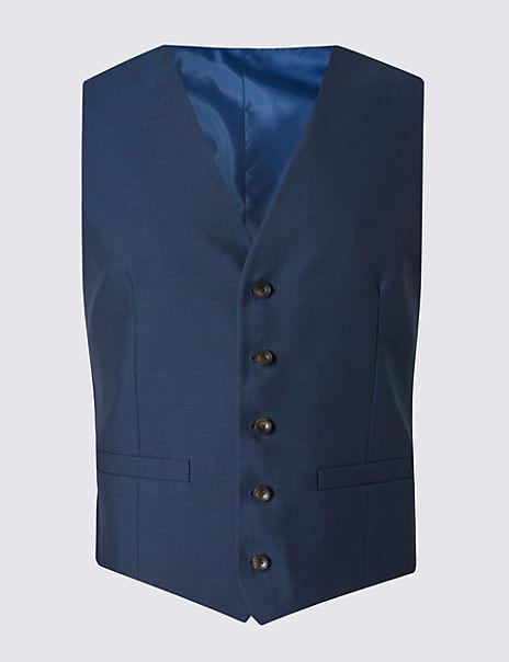 Indigo Tailored Fit Waistcoat