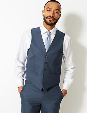 Indigo Slim Fit Waistcoat