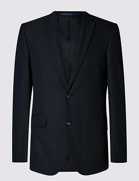 Big & Tall Navy Tailored Fit Jacket