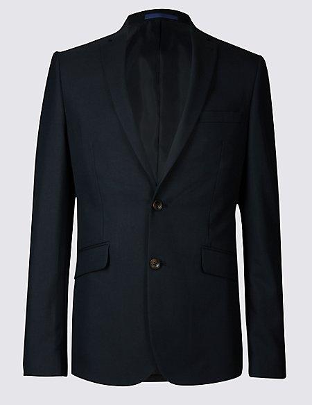 Navy Modern Slim Fit Jacket