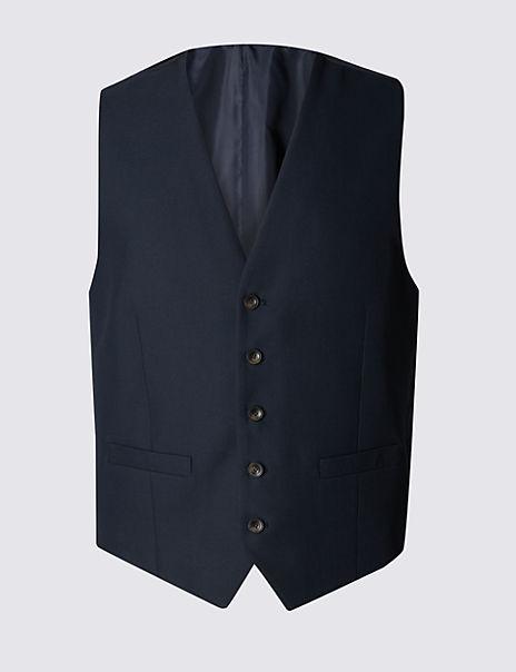 Navy Tailored Fit Waistcoat