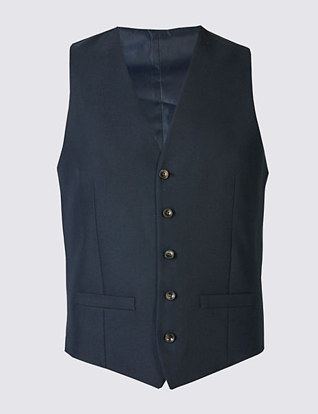 Navy Slim Fit Waistcoat