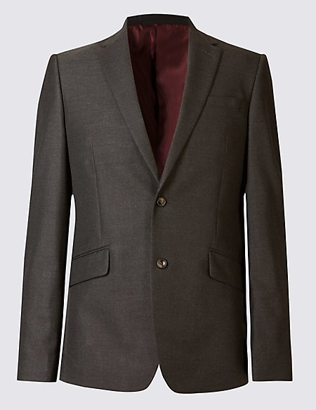 Charcoal Slim Fit Jacket