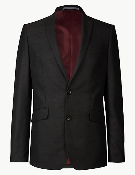 Charcoal Modern Slim Fit Jacket