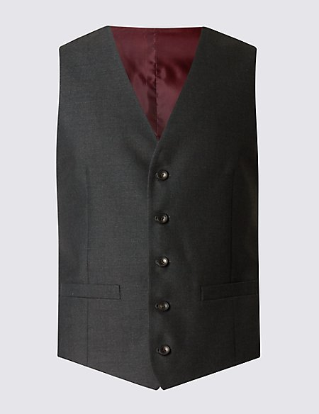 Charcoal Tailored Fit Waistcoat