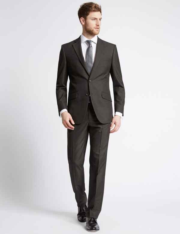 Charcoal Regular Fit Jacket