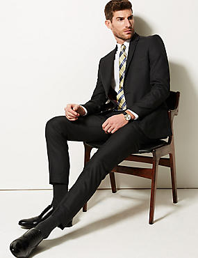 Charcoal Modern Slim Fit Trousers