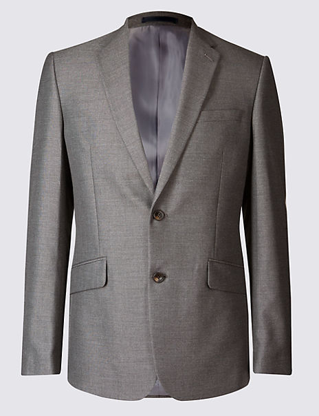 Grey Slim Fit Jacket
