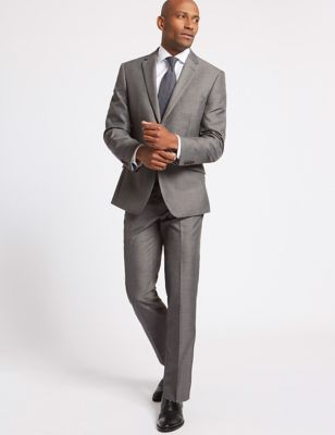 Big & Tall Grey Tailored Fit Jacket