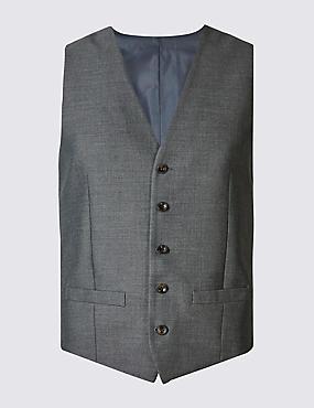 Grey Slim Fit Waistcoat