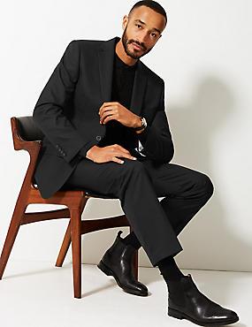 Black Regular Fit Suit