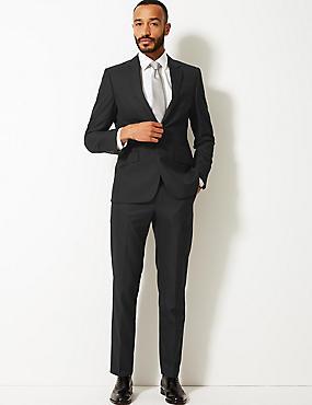 Black Tailored Fit 3 Piece Suit