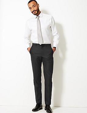 Černé kalhoty mírně zúženého střihu ... 53b5b075b3