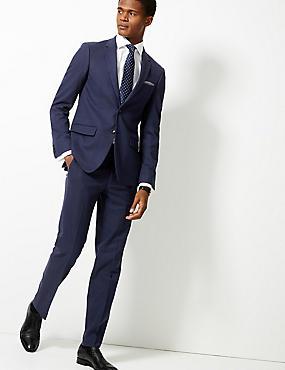 Indigo Textured Slim Fit Suit