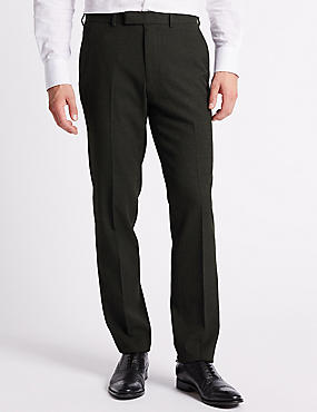 Charcoal Textured Slim Fit Trousers