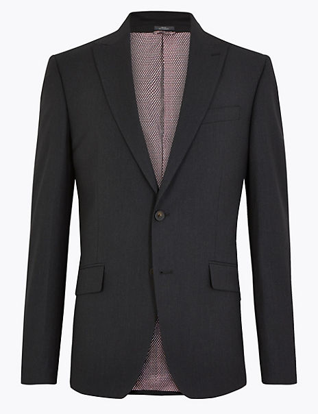 Slim Fit Jacket with Stretch