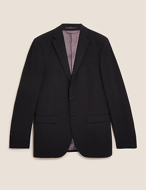 Black Tailored Fit Jacket with Stretch