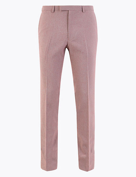 Skinny Fit Flat Front Trousers