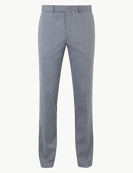 Grey Slim Fit Trousers
