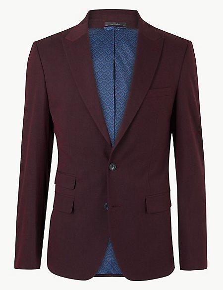 Burgundy Slim Fit Jacket