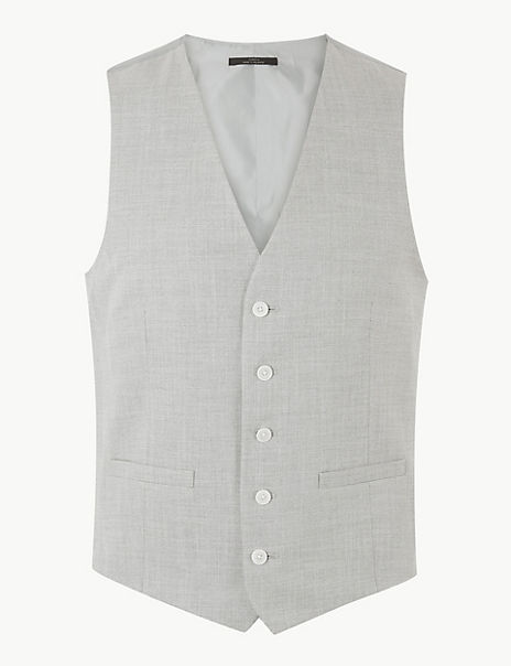 Grey Skinny Fit Waistcoat