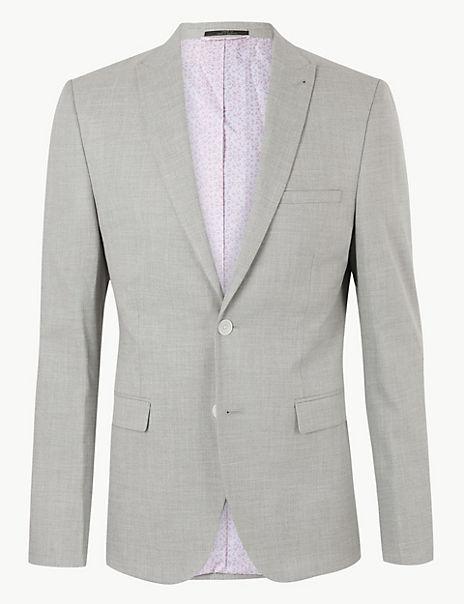Grey Skinny Fit Jacket