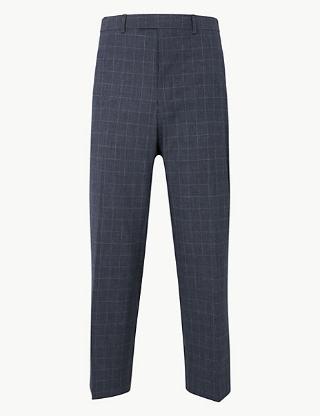 Checked Regular Fit Trousers