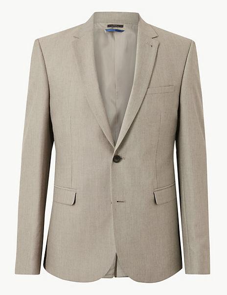 Textured Skinny Fit Jacket