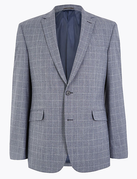 Checked Slim Fit Jacket