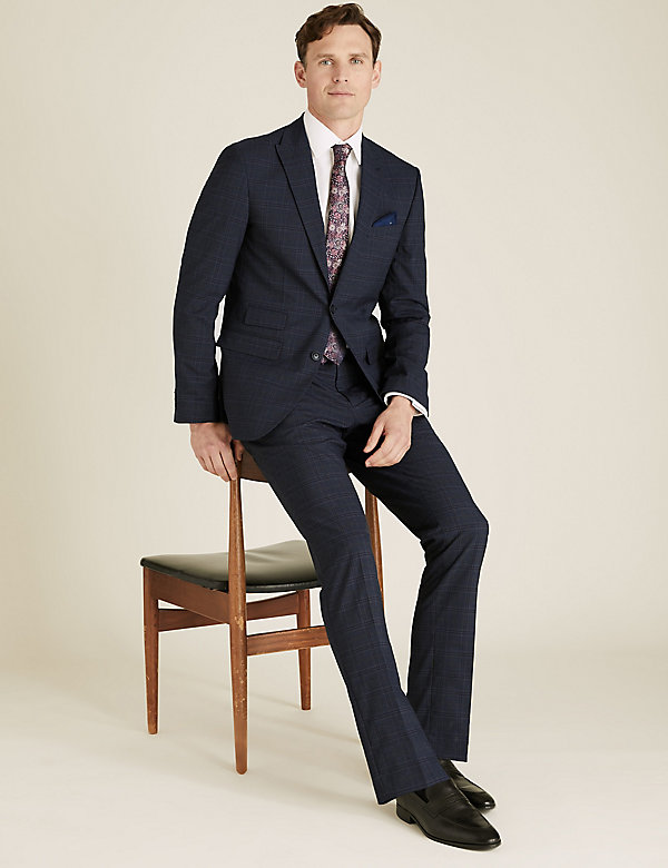 Slim Fit Check Trousers