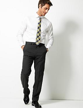 Big & Tall Charcoal Regular Fit Trousers