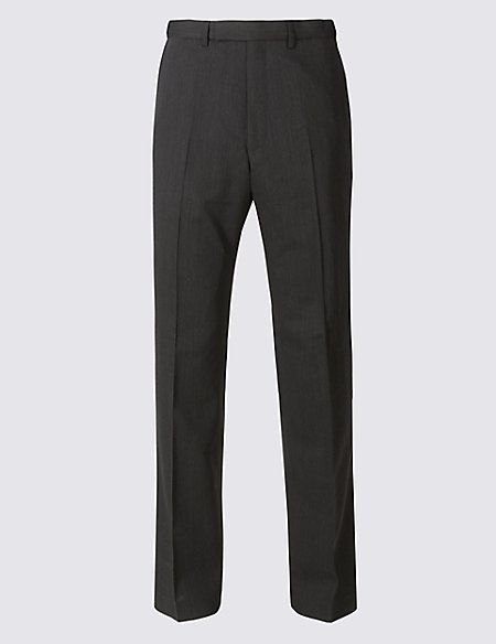 Big & Tall Charcoal Regular Fit Trousers