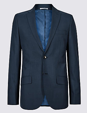 Indigo Checked Tailored Fit Suit