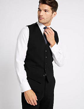 Sale Huge Surprise Outlet Cheapest Price Marks and Spencer Black Regular Fit Waistcoat black Buy Cheap Recommend Free Shipping Best Place 1tu6C