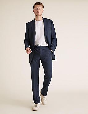 Grandes tailles The Ultimate – Pantalon bleu marine en laine coupe standard