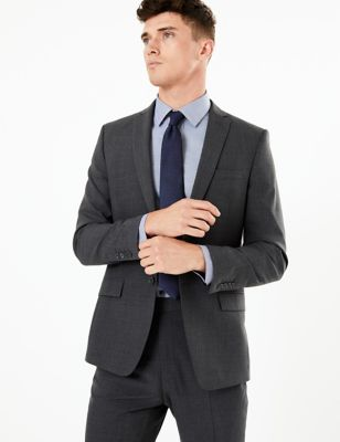 The Ultimate Big & Tall Charcoal Slim Fit Jacket