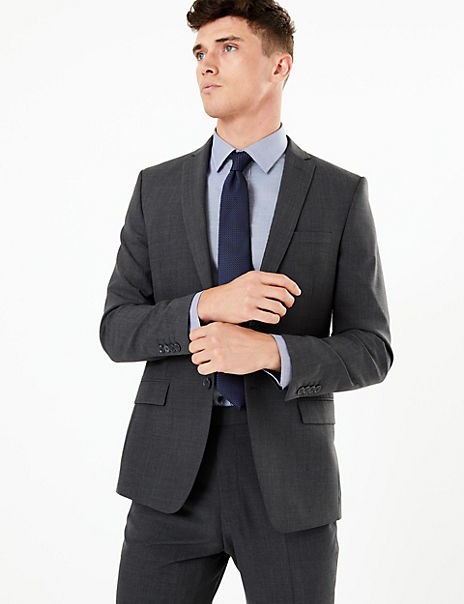 The Ultimate Big & Tall Charcoal Tailored Fit Jacket