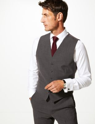 The Ultimate Charcoal Tailored Fit Waistcoat