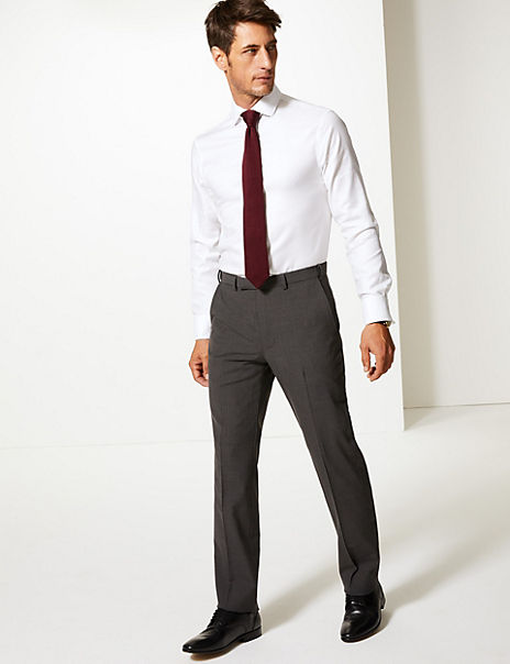 The Ultimate Big & Tall Charcoal Tailored Fit Trousers