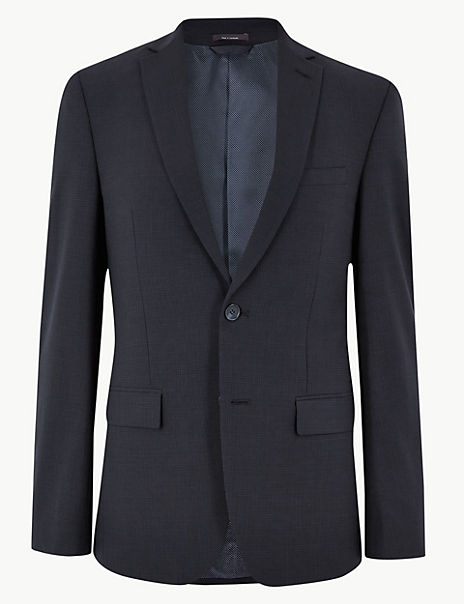 The Ultimate Navy Checked Tailored Fit Jacket