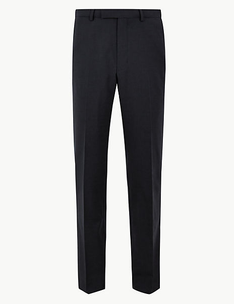 The Ultimate Navy Tailored Checked Trousers