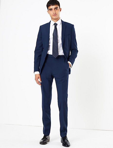 The Ultimate Big & Tall Blue Skinny Fit Jacket