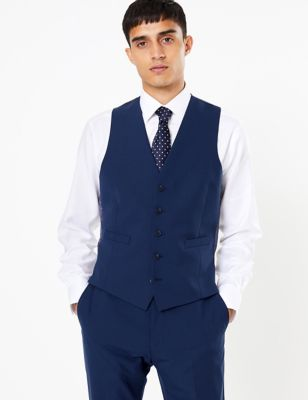 The Ultimate Blue Skinny Fit Waistcoat